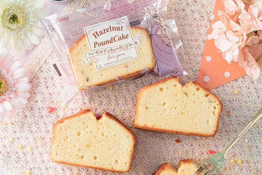 ラプンツェルの好物・ヘーゼルナッツのスープにちなんだ『ヘーゼルナッツのパウンドケーキ』(158円)