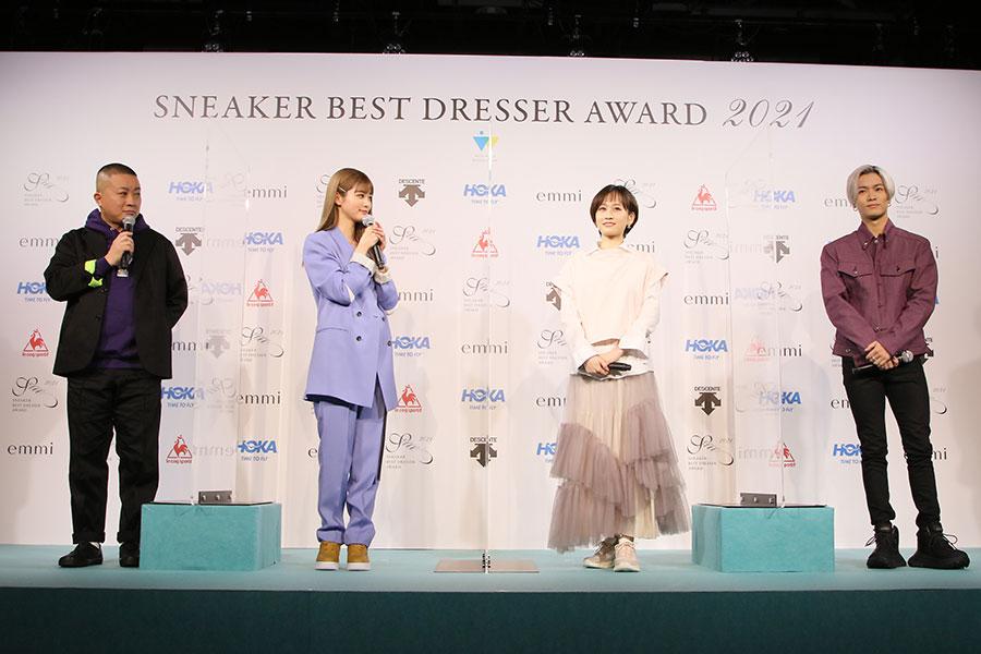 『スニーカーベストドレッサー賞 2021』トークセッションの様子(22日・東京都内)