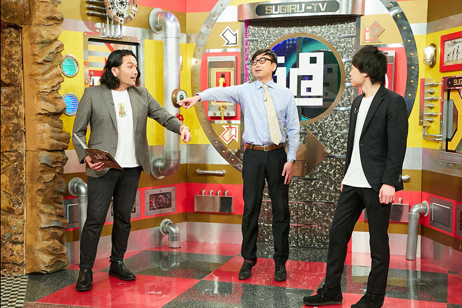 左から見取り図盛山、おいでやす小田、リリー (C)ABCテレビ