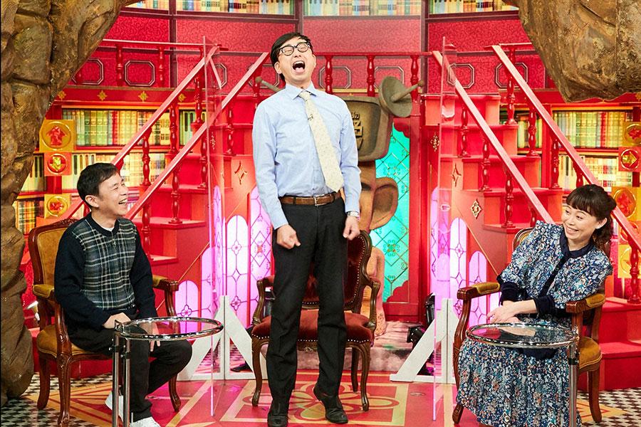 左から岡村隆史、おいでやす小田、なるみ (C)ABCテレビ