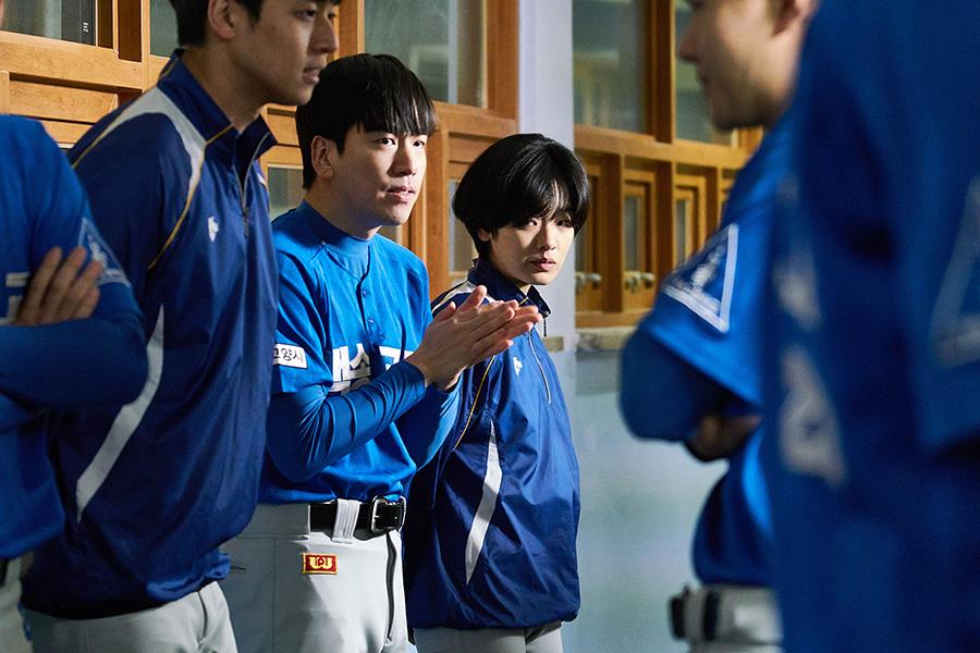 男子野球部員でひとり混じる主人公チュ・スインを演じるのは、「梨泰院クラス」で話題になったイ・ジュヨン。(C)2019 KOREAN FILM COUNCIL. ALL RIGHTS RESERVED