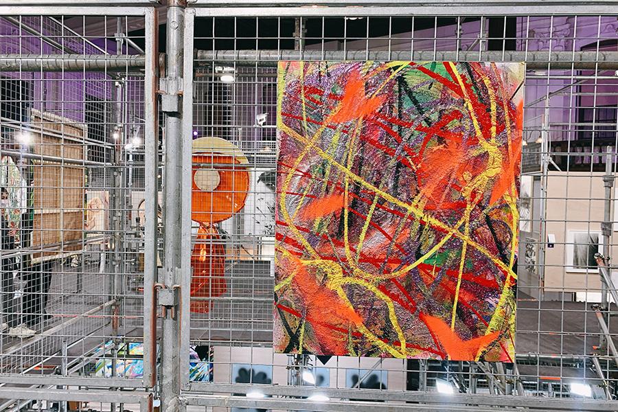 「京都府京都文化博物館 別館」。若手アーティストを推薦するアーティスト陣の1人、鬼頭健吾の作品
