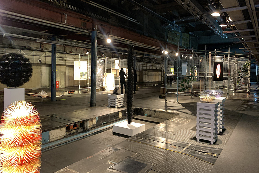 2つある会場のひとつ「京都新聞ビル地下1階