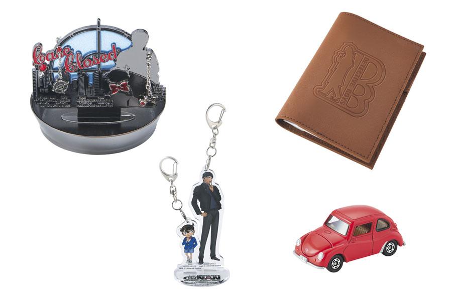 再販される、ピアス付きジュエリースタンドや探偵手帳型ノート、アクリルキーチェーンセット(2個)、ミニカー