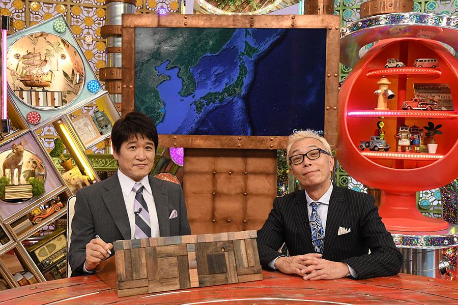 左から番組パネラーの林修、MCの所ジョージ(C)ABCテレビ