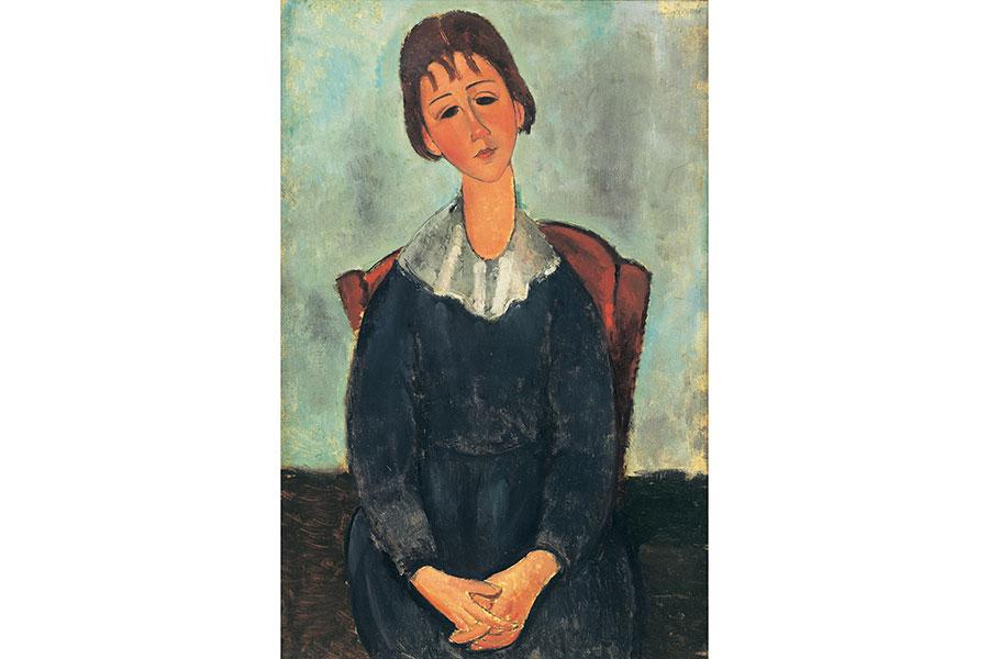 アメデオ・モディリアーニ『少女の肖像』 1918年 アサヒビール大山崎山荘美術館蔵