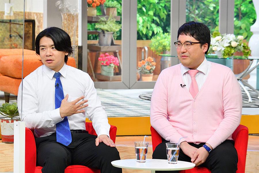 ゲストのマヂカルラブリー(左から、野田クリスタル、村上)(写真提供:MBS)