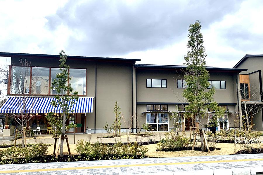 施設のデザイン・設計は街のブランディングからリノベーションまで幅広く手掛けるブルースタジオが担当。北欧らしいカラーのサンシェードがかわいい