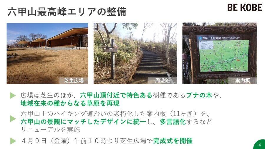 芝生広場や、多言語対応の案内板も整備(提供:神戸市)