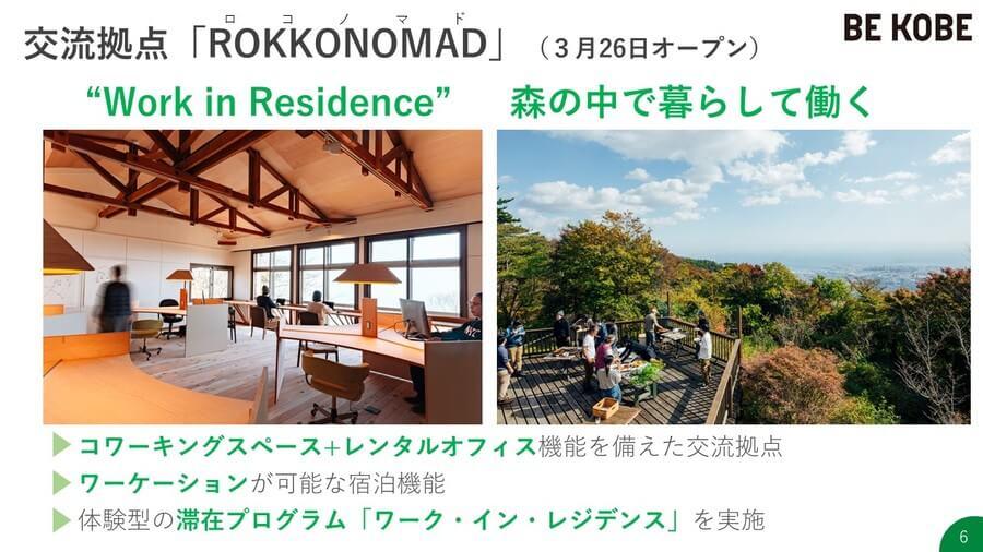 3月26日にオープンした宿泊もできるコワーキング・レンタルオフィス「ROKKONOMAD」(提供:神戸市)