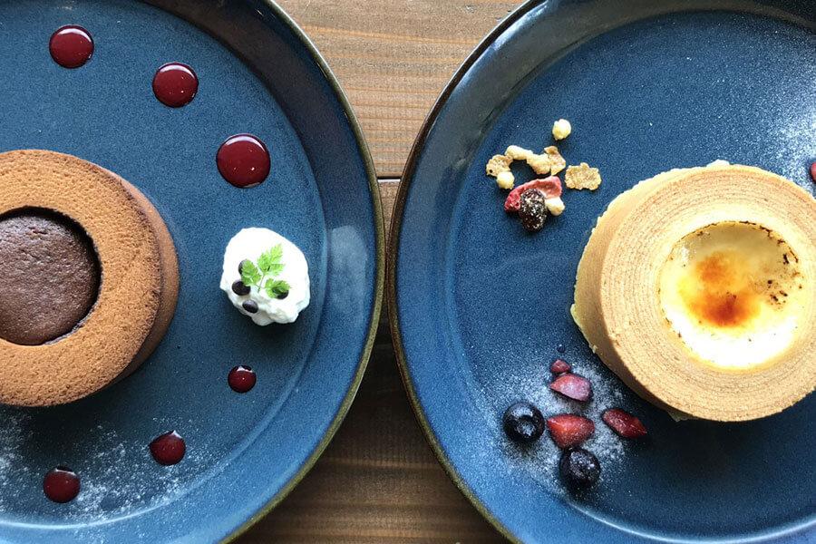 「cafe maaru」で人気の「フォンダンショコラばぁむ」と「ブリュレばぁむ」