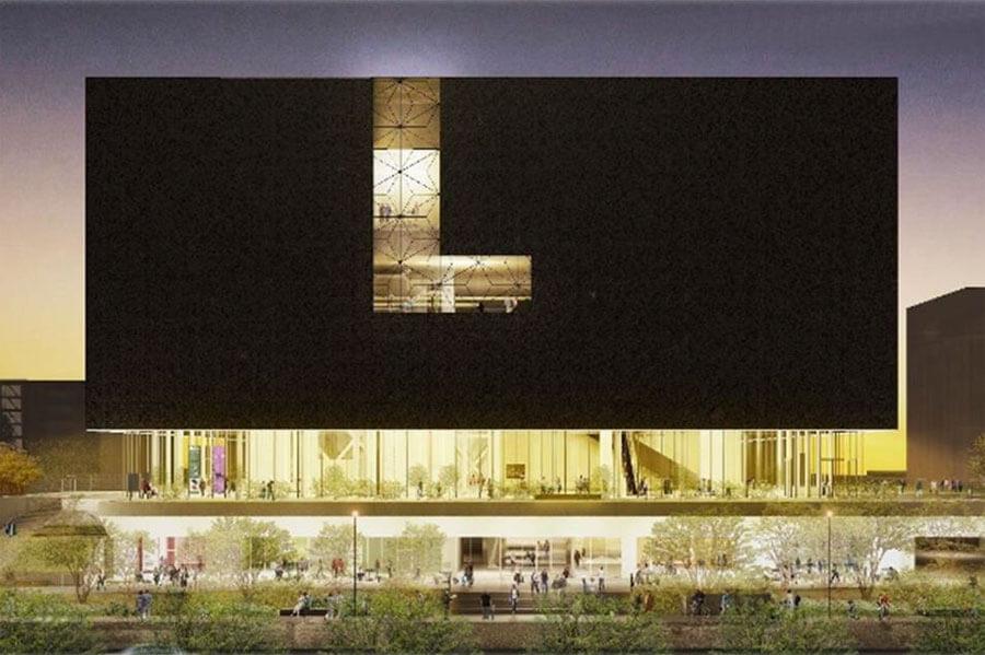 「大阪中之島美術館」の外観イメージ 提供:大阪市 設計:遠藤克彦建築研究所