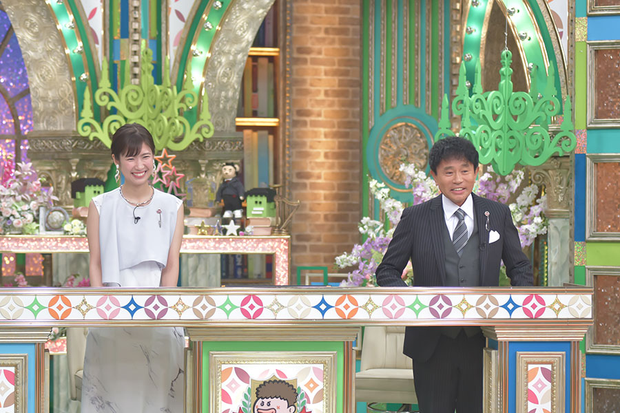 番組MCの浜田雅功(右)と、玉巻映美アナウンサー(写真提供:MBS)