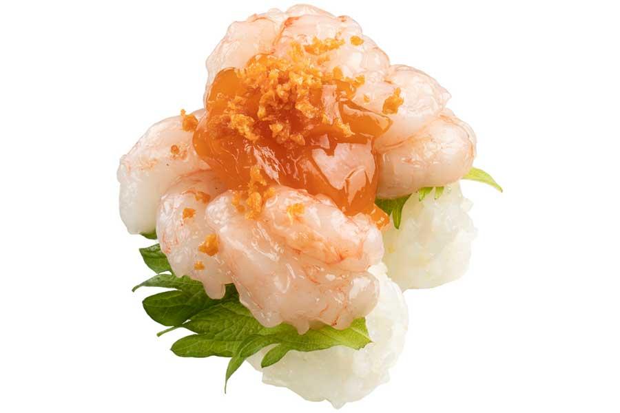 始まりの皿 インパクト甘海老(300円・税別)