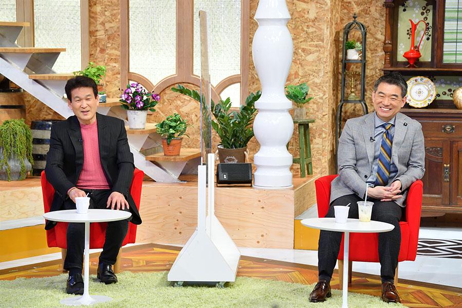 ゲストの辛坊治郎(左)、橋下徹(写真提供:MBS)