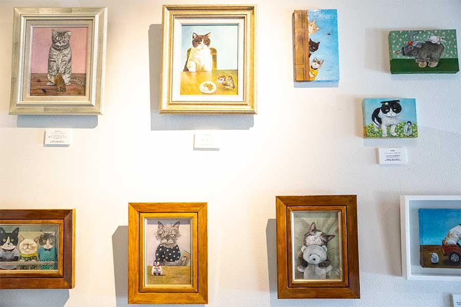 1月にオープンした『3軒の猫と庭』では、作品を多数展示