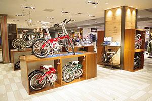 コロナ禍の生活様式に対応、百貨店に折りたたみ自転車専門店