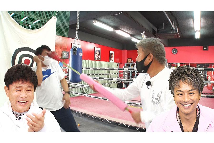 亀田のジムでトレーニングする天竺鼠・瀬下(写真提供:MBS)