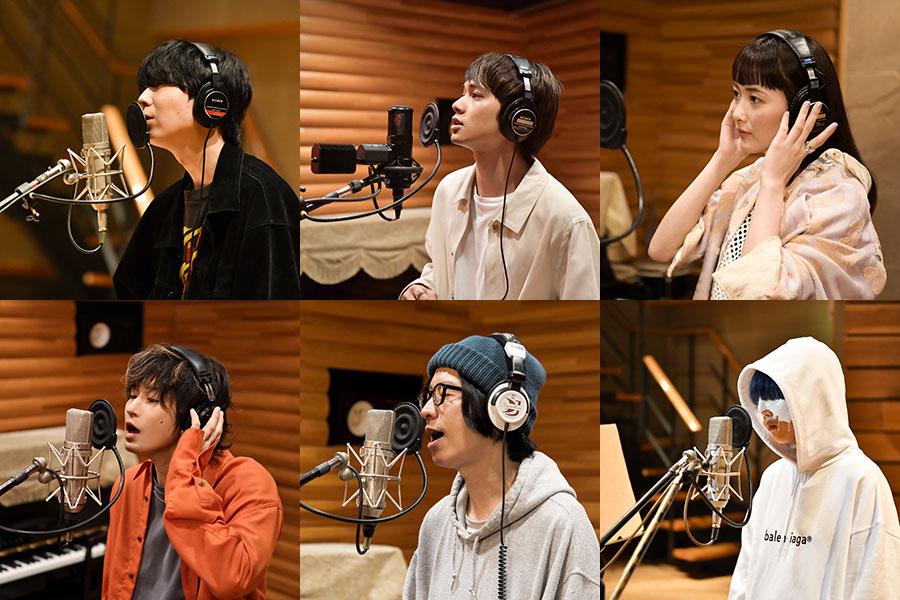 (左上から時計回りに)川谷絵音、北村匠海、長屋晴子、yama、ホリエアツシ、三原健司(写真提供:FM802)