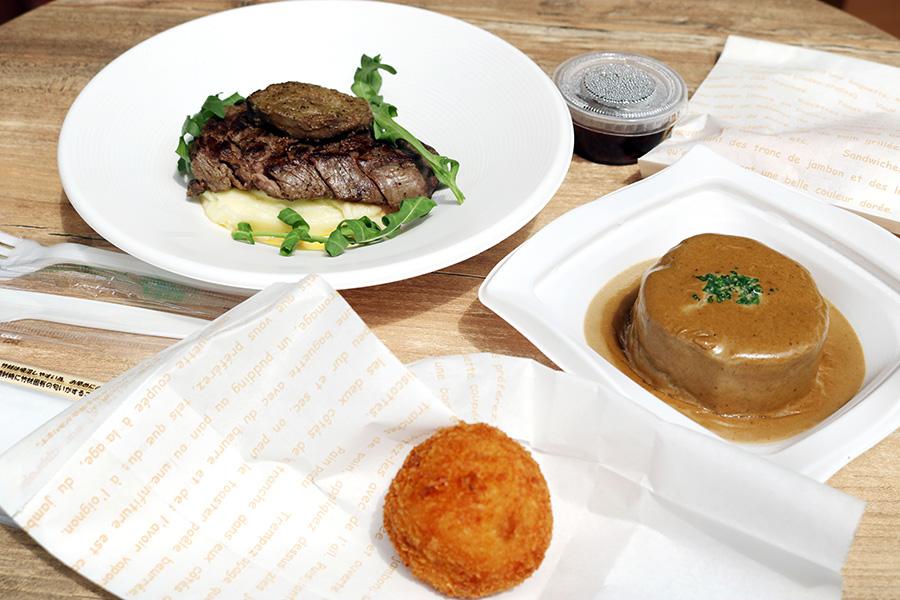 購入した料理は近くの「ミオガーデンテラス」で、食べることも可
