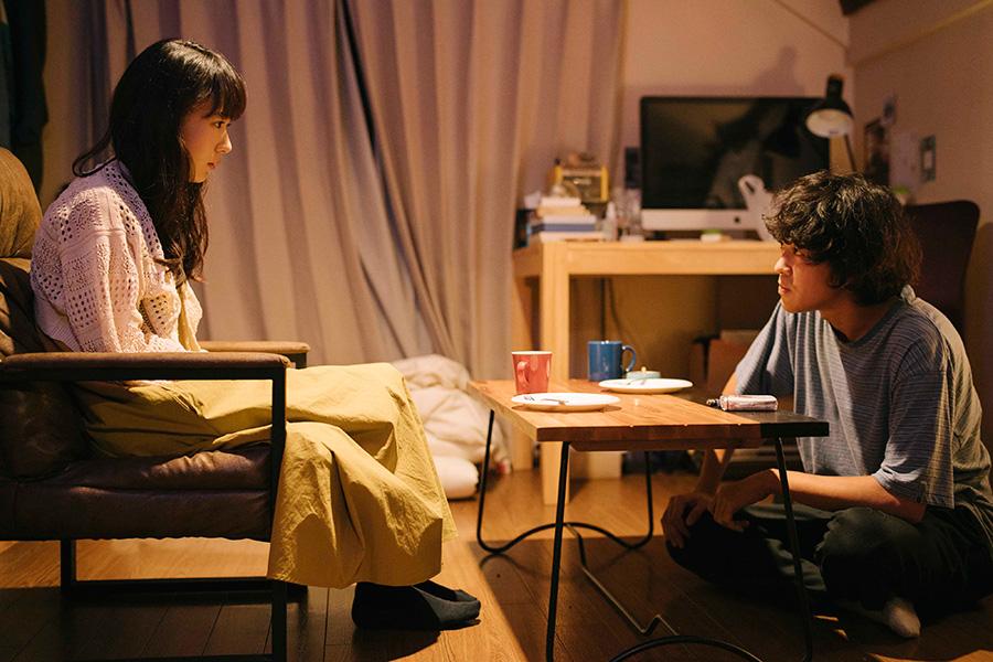 青と別れたい恋人・川瀬雪を演じる穂志もえか。(C)「街の上で」フィルムパートナーズ