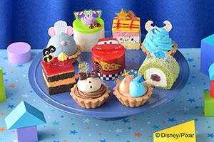 トイ・ストーリーなど、ピクサーのキャラがプチケーキに