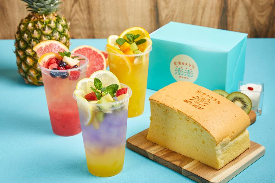 今回、初登場。台湾 ポンポンフルーツティーは各種550円。杏仁豆腐70円、ナタデココ100円でトッピングを追加できる