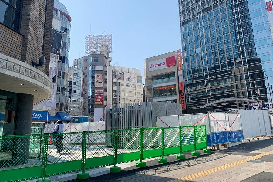 「さんきたアモーレ広場」(パイ山)は現在工事中、今夏リニューアル予定