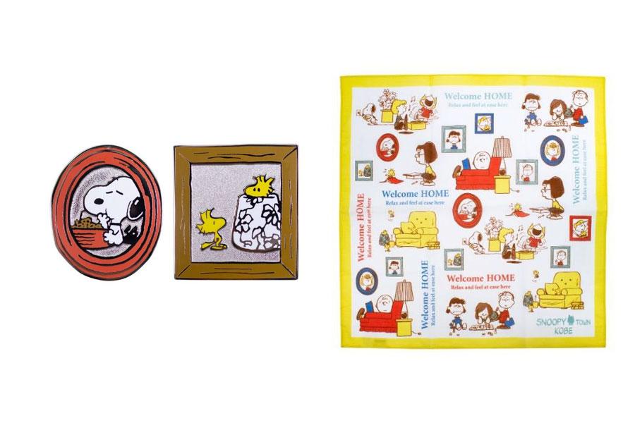 【限定数200セット】記念ピンバッジセット(1518円)、【限定数300枚】バンダナ(1100円)(C) 2021 Peanuts