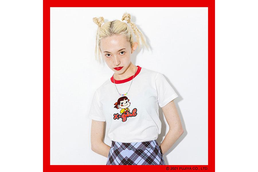 X-girl × PEKO RINGER S/S TEE 6050円