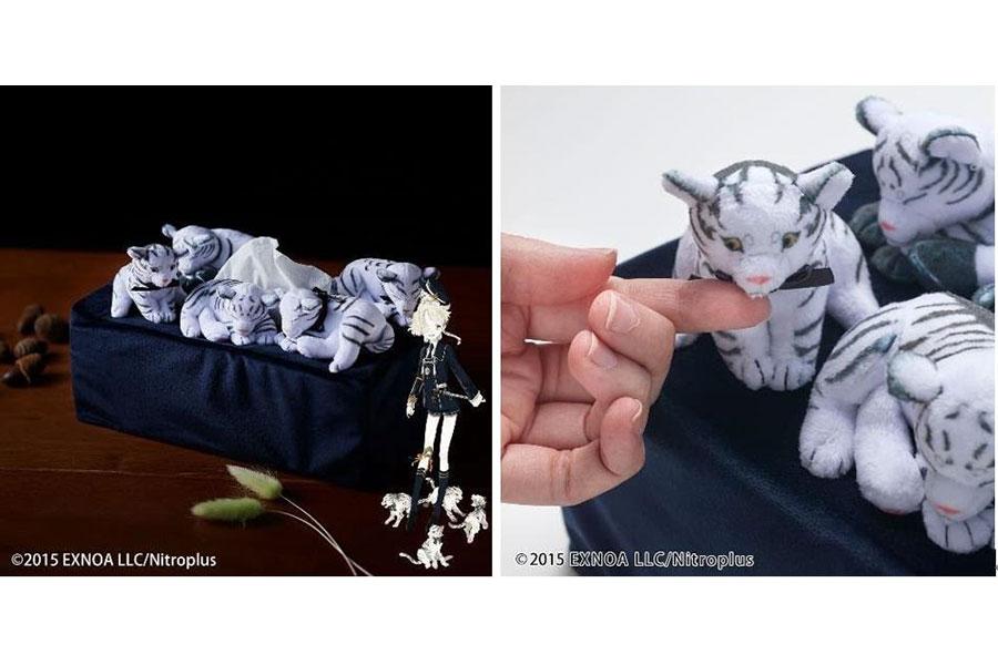 刀剣男士・五虎退の連れている5匹の子虎をデザインしたティッシュケースカバー「五虎退の子虎ティッシュケースカバー」(5720円)