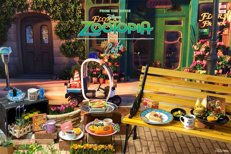 ディズニーアニメーション映画『ズートピア』をモチーフにしたカフェが、大阪・心斎橋に期間限定オープン(c)Disney