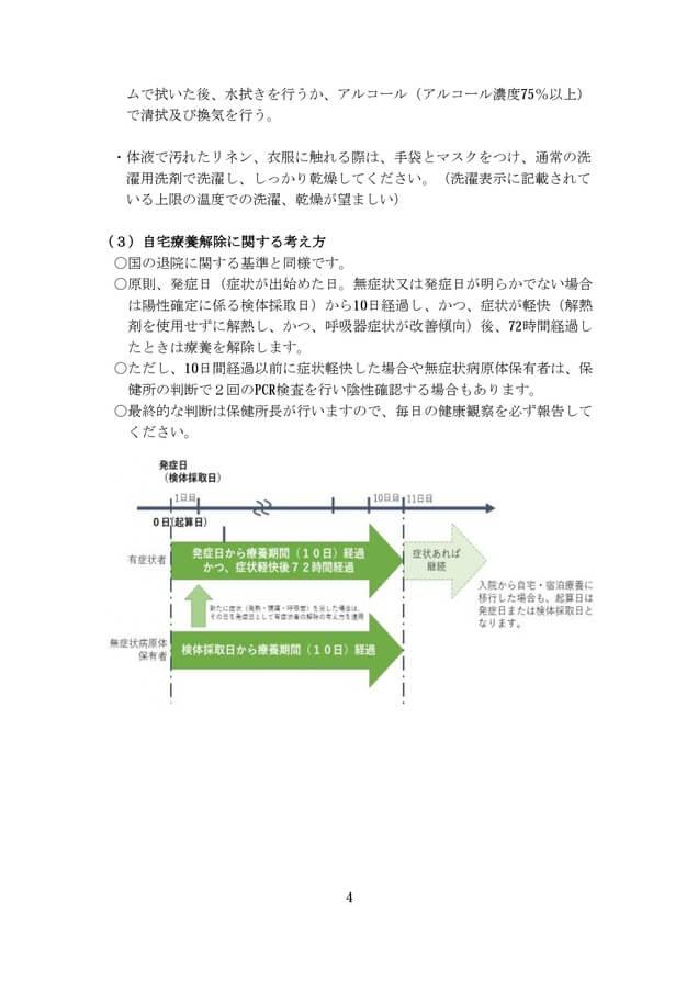大阪府が配布する「自宅療養されるみなさまへ」より15-5