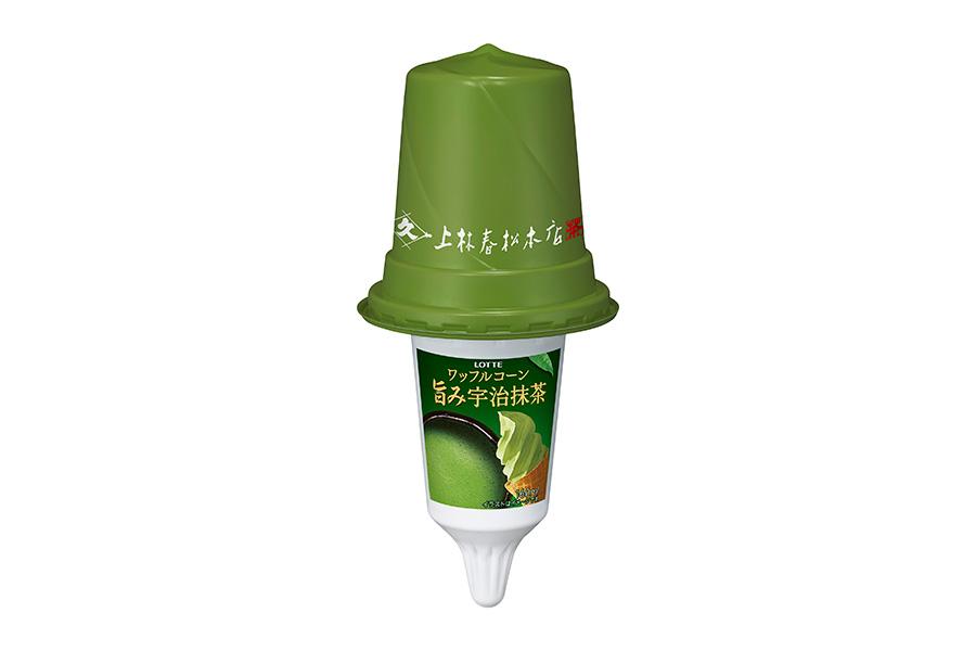 老舗・上林春松本店監修 ワッフルコーン旨み宇治抹茶(268円)