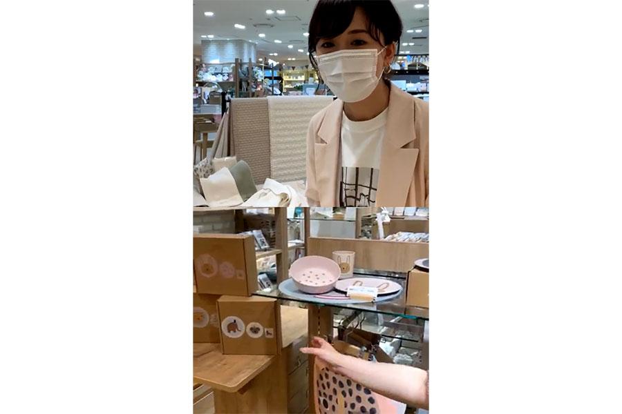 阪急うめ阪ママ(@hankyu_umehanmama)インスタライブで売場の商品を紹介していく