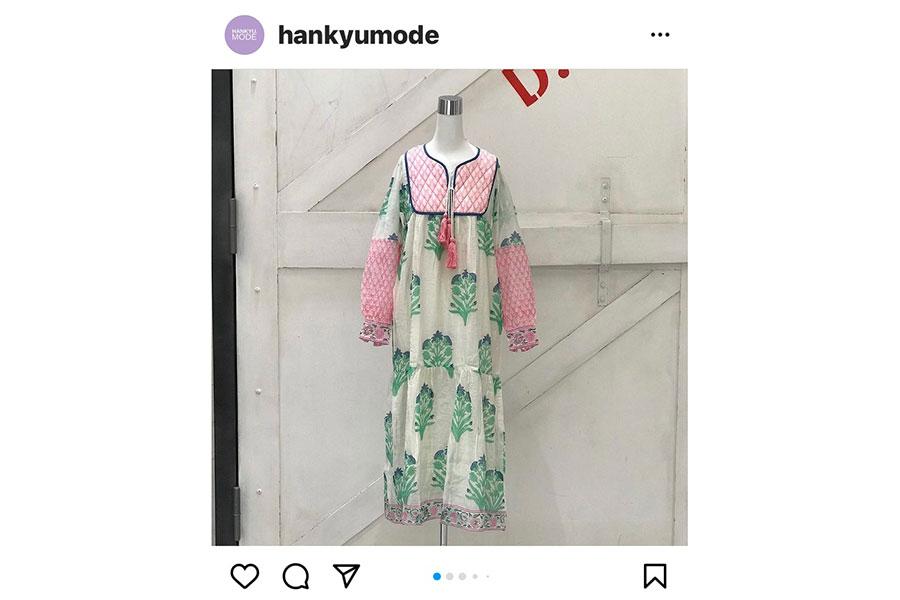 阪急モード(@hankyumode)のインスタグラムでは最新のファッションを告知。商品は売り切れの場合あり