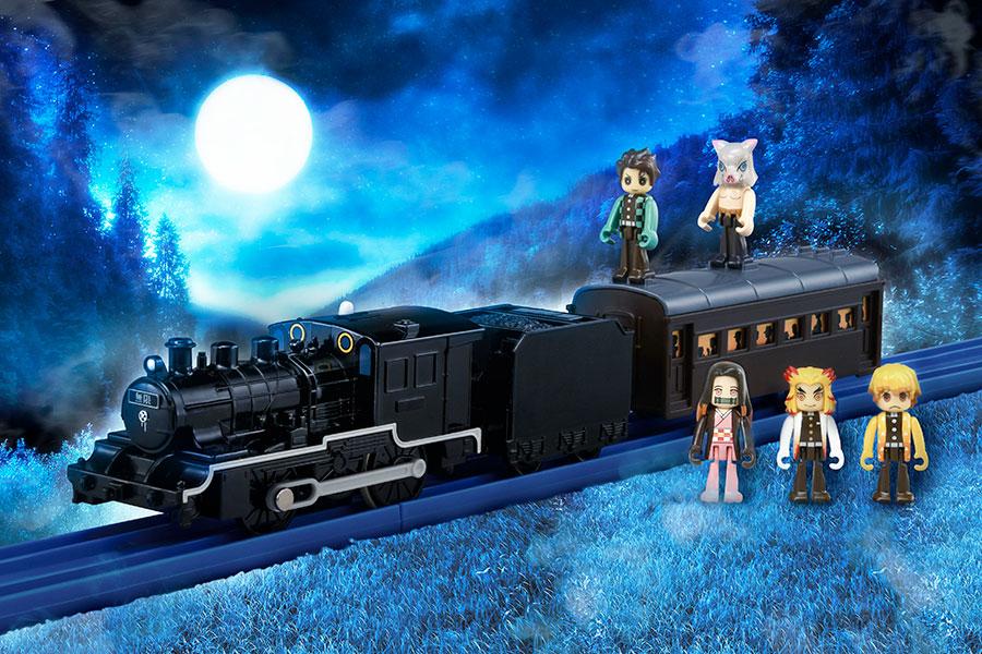 プラレールで再現された「無限列車」