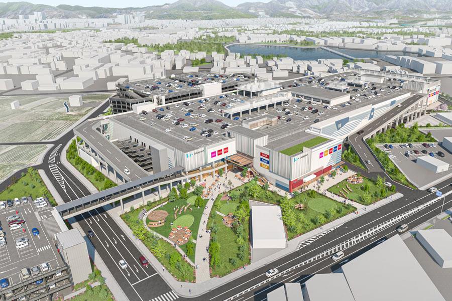 「(仮称)三井ショッピングパーク ららぽーと堺」鳥瞰図イメージ