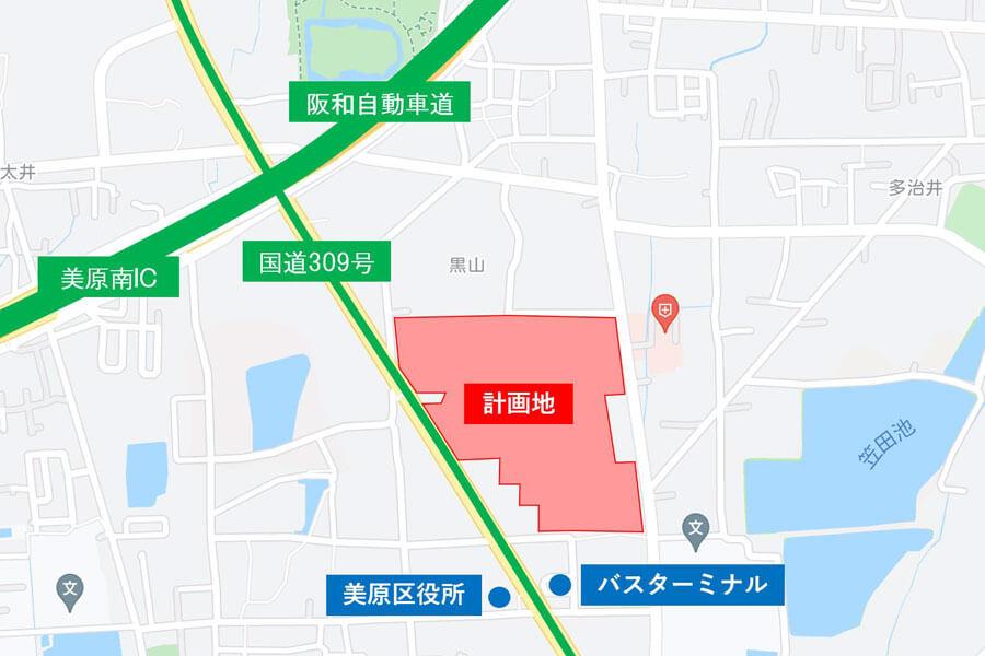 国道309号沿いにオープンする「(仮称)三井ショッピングパーク ららぽーと堺」