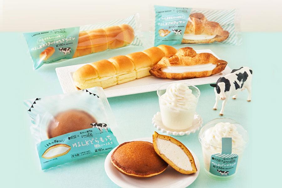 4種のこだわり生クリームスイーツとパン