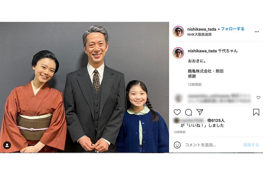 熊田役・西川忠志によるインスタグラム投稿のスクリーンショット