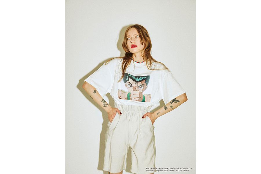『幽☆遊☆白書』浦飯幽助 BIG Tシャツ(7700円)カラー展開:ホワイト、ブラック、グリーン