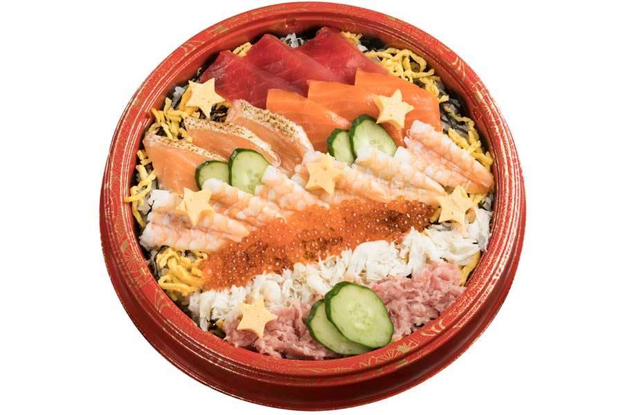 スシロー、豪華ネタ満載の「七夕限定ちらし寿司」が登場