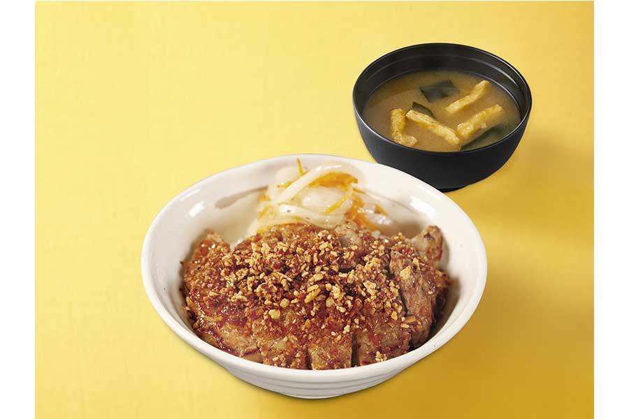 ポークステーキ丼 香味醤油(630円)