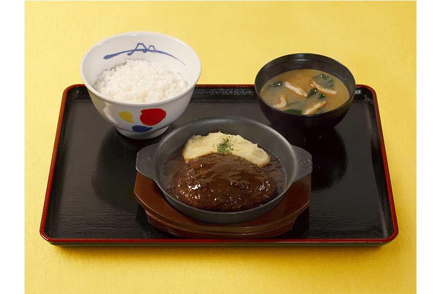 黒毛和牛100%ハンバーグ定食(890円)