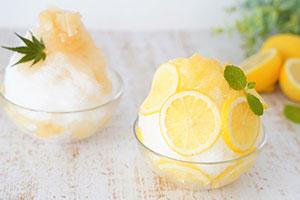 レモンシロップたっぷりかき氷、京都のはちみつ専門店で発売