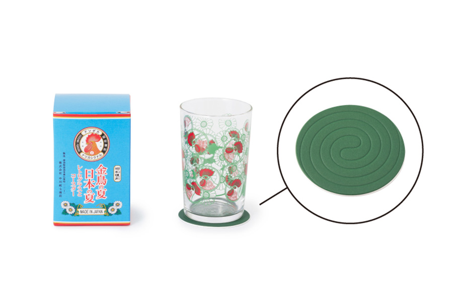 レトログラスとコースター(1650円)