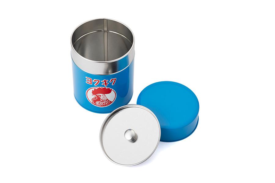 ブリキ缶 ヨクキク(2200円)