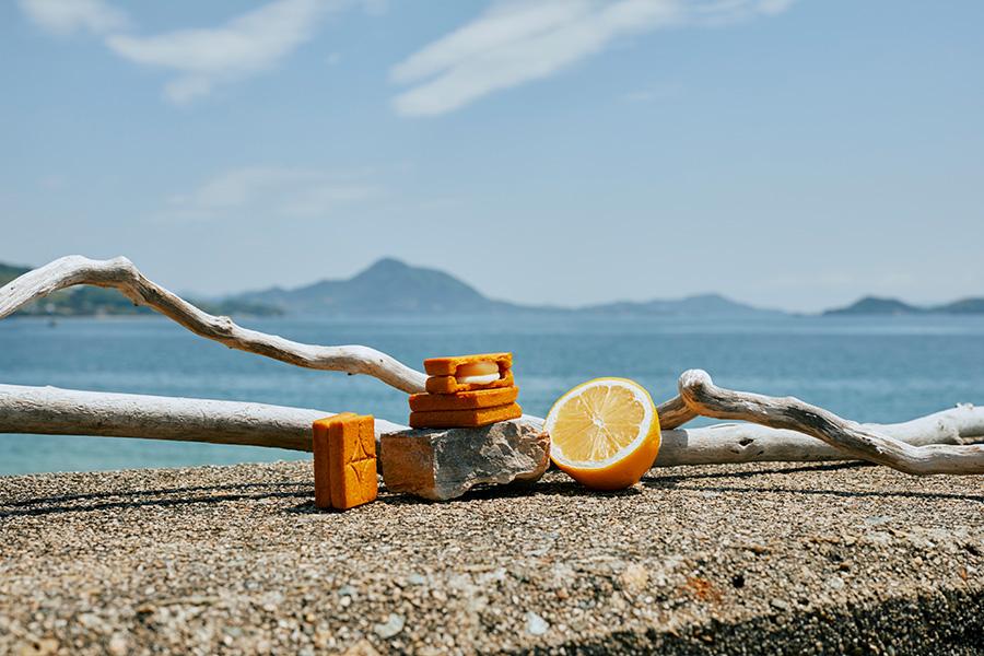 バターサンド<檸檬>(3個入り810円・5個入り1242円・9個入り2235円)