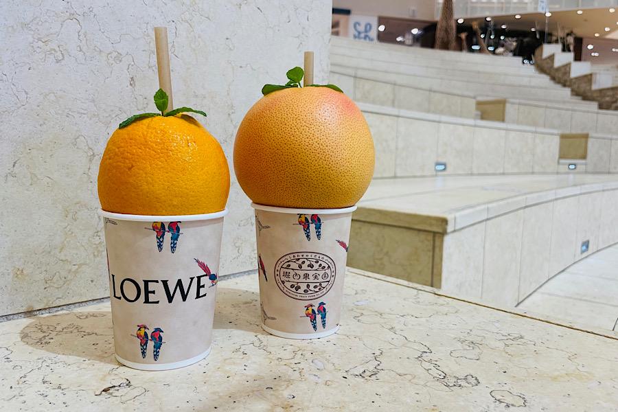 左からオレンジティーパンチ、グレープフルーツティーパンチ